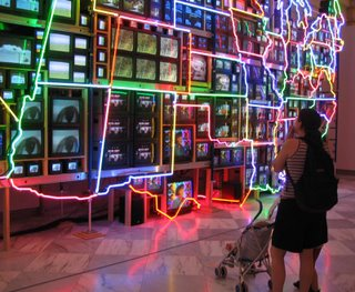 Nam June Paik, Electronic Superhighway: Continental U.S., Alaska, Hawaii, Smithsonian American Art Museum