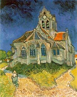 Vincent Van Gogh, L'église d'Auvers-sur-Oise, vue du chevet, 1890, Musée d'Orsay