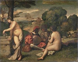 Titian, Pastoral Concert, c. 1510, Musée du Louvre