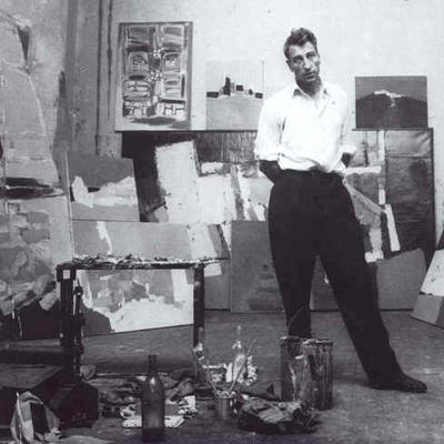 Nicolas de Staël in his studio, Antibes, 1954