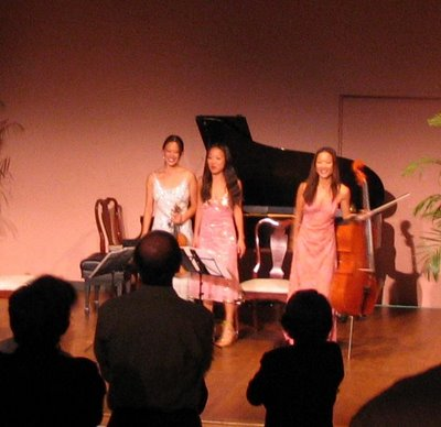 Ahn Trio, National Museum of Women in the Arts, May 3, 2006