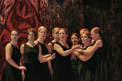 Dawn Upshaw and ensemble, Ainadamar, Santa Fe Opera, July 2005