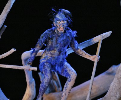 Cyndia Sieden as Ariel, The Tempest, Santa Fe Opera, costume designed by Paul Brown, photo by Ken Howard © 2006