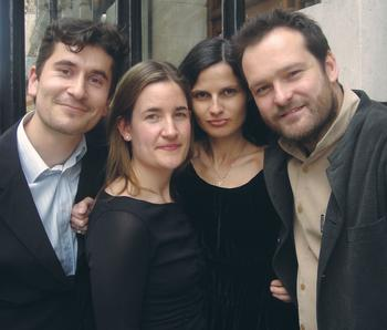 Belcea Quartet (left to right): Antoine Lederlin, Laura Samuel, Corina Belcea, Krzysztof Chorzelski