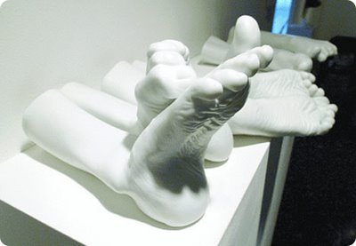 Sculptures by Sam Bakewell, in White Spirit: The Expressiveness of White, Fondation d'entreprise Bernardaud, Limoges