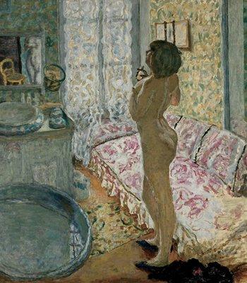 Pierre Bonnard, Le Cabinet de toilette au canapé rose, 1908, Musées royaux des Beaux-Arts de Belgique, Brussels