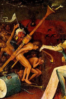 Hieronymous Bosch, The Garden of Earthly Delights, right panel (Hell), detail, Prado, Madrid
