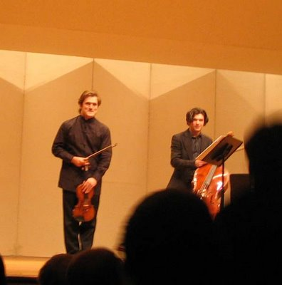 Renaud and Gautier Capuçon, Shriver Hall, January 29, 2006