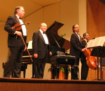 Philip Setzer, Menahem Pressler, David Finckel, and Eugene Drucker, Shriver Hall, October 15, 2006