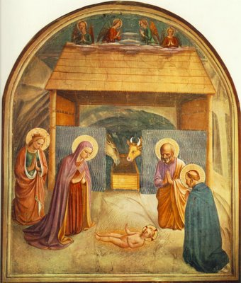 Fra Angelico, Nativity, fresco in the Convento di San Marco, Florence, 1440-41