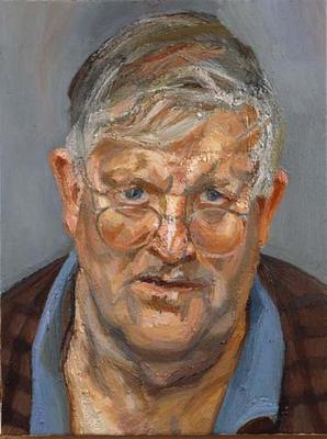 Lucian Freud, Portrait of David Hockney, 2002, Private Collection