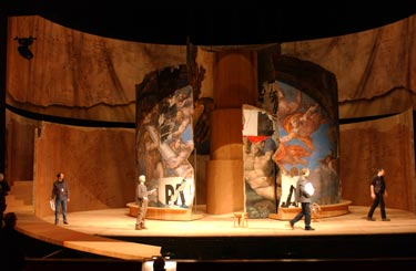 Michael Jarrell, Galilée, set by Hermann Feuchter, Grand Théâtre de Genève, photograph by Mario del Curto