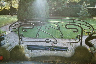 Garden ironwork by Hector Guimard, La Hublotière, Le Vésinet