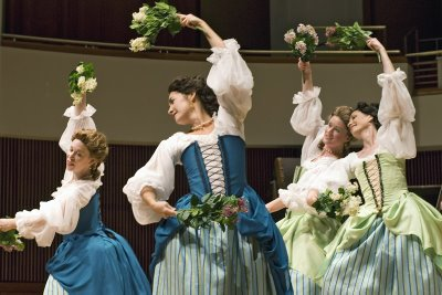 Members of the New York Baroque Dance Company perform Mozart's