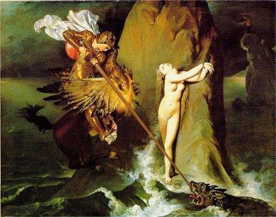 Ingres, Roger délivrant Angélique