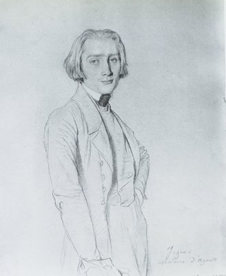 Ingres, portrait of Franz Liszt