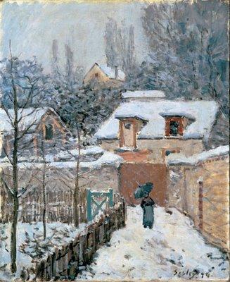 Alfred Sisley, Jardin à Louveciennes - effet de neige, 1874