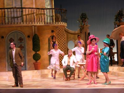 The cast of Il Matrimonio Segreto, University of Maryland Opera Studio, photo by Laura Mertens