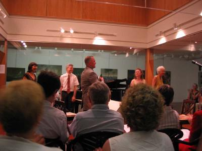 Composer Janet Peachey with members of Washington Musica Viva, July 18, 2005