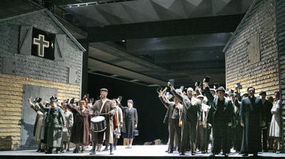 Choral scene, Act II, Peter Grimes, Santa Fe Opera, July 2005