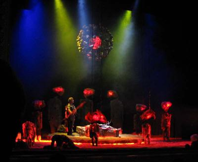 Wotan imprisons Brünnhilde in the ring of fire, Opera Theater of Pittsburgh, July 16, 2005