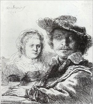 Rembrandt, Self-Portrait with Saskia, 1636, Pierpont Morgan Library