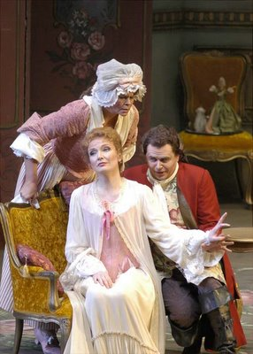 Susan Graham, Anne Schwanewilms, Franz Hawlata, in Der Rosenkavalier, Lyric Opera of Chicago, 2006, photograph by Robert Kusel