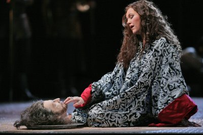 Janice Watson with Jokanaan's head, Salome, Santa Fe Opera, photo by Ken Howard © 2006
