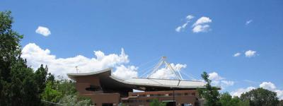 Crosby Theater, seen from the Ranch, Santa Fe Opera, July 2005