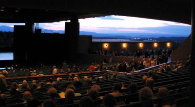 Mountain view, Crosby Theater, Santa Fe Opera, July 20, 2005