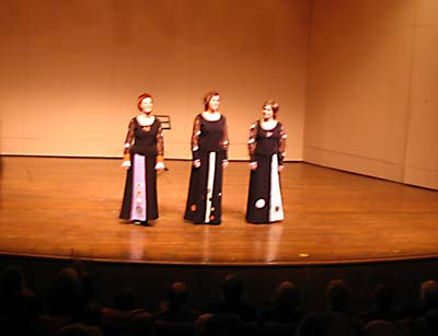 Trio Medival, Kennedy Center, Terrace Theater, December 11, 2005