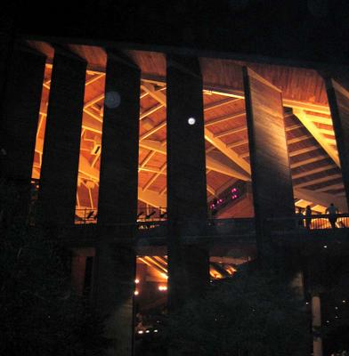 Filene Center at night, Wolf Trap, August 20, 2005