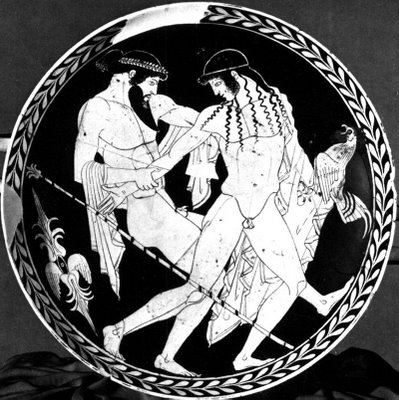 Zeus kidnaps the Trojan boy Ganymede, Penthesilea Painter, Museo Nazionale Ferrara