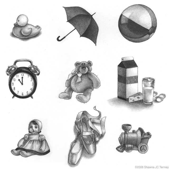 black and white objects