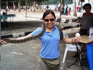 Me posing with a snake