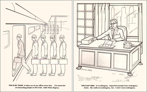 Coloring Book For Executives This Is My Train It Takes Me To Office Every Day