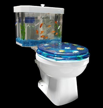 Chuck S Weird World Fish N Flush Toilet Tank Aquarium Kit