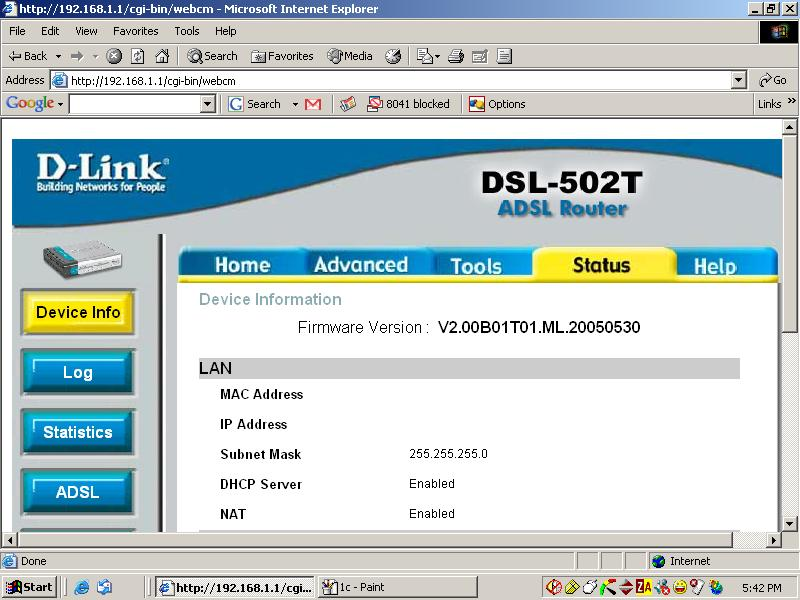 Socrates\'s experience: Configuring the D-Link 502T router for MTNL ...