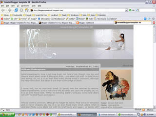 Blogger Template Listen to The Music
