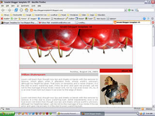 Free Blogger Template The Apples