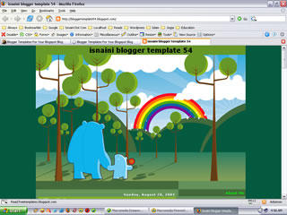 Free Blogger Template Rainbow