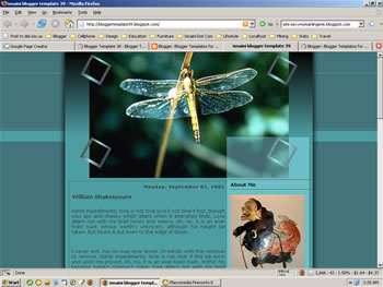 Blogger Template - Dragon Fly