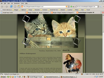 Blogger template - The Cats