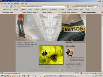 Blogger Template - Caution