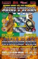 Afiche de promocion de la pelea Freitas Vs. Barrios