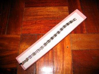 A silver bracelet from Rustan's