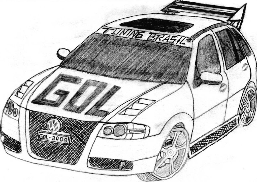 desenhos do gilbert meu desenho nº4 volkswagen gol g4