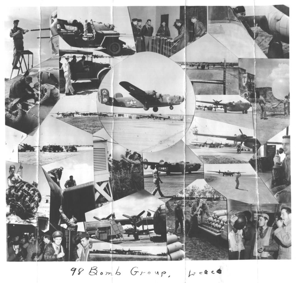 Collage Of 98th Bomb Group Scenes