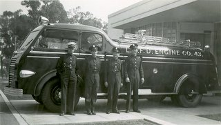 Station 43 crew in 1942 just after the former facility opened. Click this image for more information...