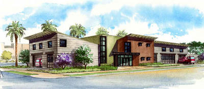 Artists Concept of new LAFD Station 62